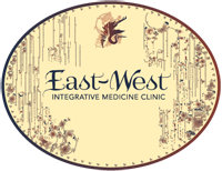Gift Certificate oval logo with crane and East West Integrative Medicine Clinic.